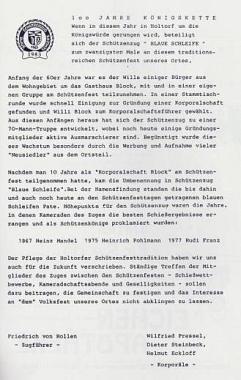 Festschrift©Holtorfer Schießsport- und Schützenfestverein