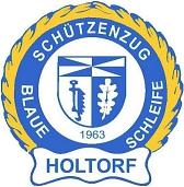 """Logo """"Blaue Schleife""""©Holtorfer Schießsport- und Schützenfestverein"""